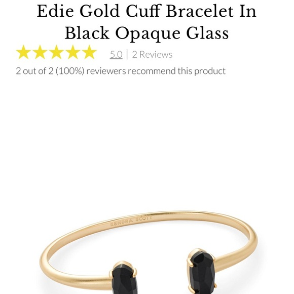 c98c25d41aa Kendra Scott Black and Gold cuff. M_5b97e76fc89e1d304f11b161